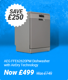 AEG FFE62620PM Dishwasher with AirDry Technology