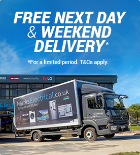 Marks Electrical delivery vans deliver appliances for free next day and weekend delivery