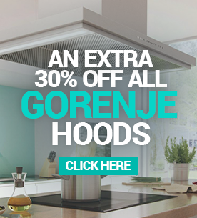 Get an extra 30% off selected Gorenje hoods