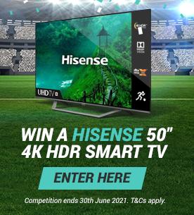 Win a Hisense 50 inch 4K HDR Smart Television