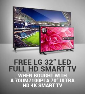 Free LG 32 inch LED TV