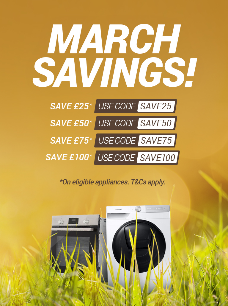 March discount codes on eligible appliances
