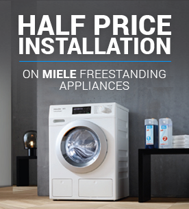 Half price installation on Miele freestanding appliances