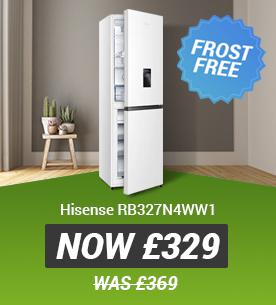 Hisense RB327N4WW1 Frost Free Fridge Freezer Now 329 Was 369