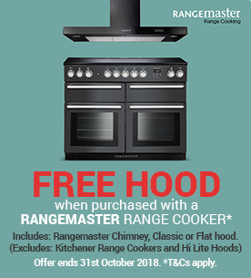 Free Hoods with selected Rangemaster Ranger Cookers