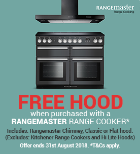 Free Rangemaster Hood when purchased with a Rangemaster Range Cooker