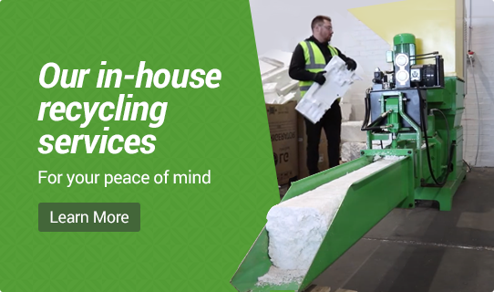 On-site recycling balers and compactors for recycling packaging and old appliances YouTube video