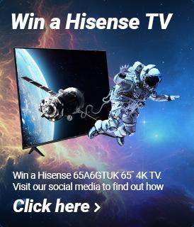 Win a Hisense 65A6GTUK 65 inch 4K Smart TV