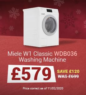 Miele WDB036 White Washing Machine