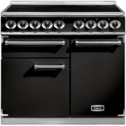 Falcon 1000 Deluxe Induction Black Chrome 100cm Electric Induction Range Cooker