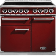 Falcon 1000 Deluxe Induction Cherry Brushed Chrome 100cm Electric Induction Range Cooker