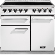 Falcon 1000 Deluxe Induction Ice White Brushed Chrome 100cm Electric Induction Range Cooker