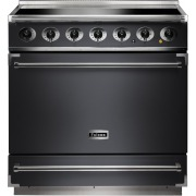 Falcon 900S Slate Brushed Chrome 90cm Electric Induction Range Cooker