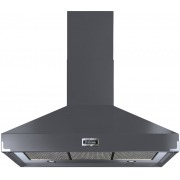 Falcon Super Extract Slate Brushed Chrome 110cm Chimney Cooker Hood