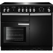 Rangemaster PROP100ECBL/C Professional Plus Ceramic Gloss Black with Chrome 100cm Electric Ceramic Range Cooker