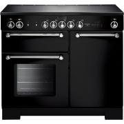 Rangemaster KCH100ECBL/C Kitchener Gloss Black with Chrome Trim 100cm Electric Ceramic Range Cooker