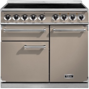 Falcon F1000DXEIFN/N-EU 1000 Deluxe Fawn with Chrome Trim 100cm Electric Induction Range Cooker
