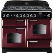 Rangemaster CLA110NGFCY/C Classic Cranberry with Chrome Trim 110cm Gas Range Cooker