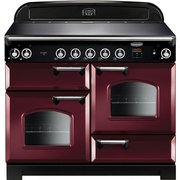 Rangemaster CLA110EICY/C Classic Cranberry with Chrome Trim 110cm Electric Induction Range Cooker