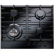 Rangemaster ECL60HPNGFBL/BL Eclipse Black Glass 4 Burner Gas Hob