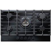 Rangemaster ECL75HPNGFBL/BL Eclipse Black Glass 5 Burner Gas Hob