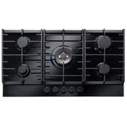 Rangemaster ECL90HPNGFBL/BL Black Glass 5 Burner Gas Hob