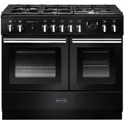 Rangemaster PROPL100FXDFFGB/C Professional Plus 100 FX Gloss Black 100cm Dual Fuel Range Cooker