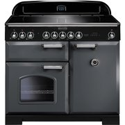 Rangemaster CDL100EISL/C Classic Deluxe Slate with Chrome Trim 100cm Electric Induction Range Cooker
