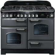 Rangemaster CDL110DFFSL/C Classic Deluxe Slate with Chrome Trim 110cm Dual Fuel Range Cooker