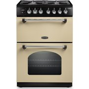 Rangemaster CLA60DFFCR/C Classic Cream with Chrome Trim Dual Fuel Cooker with Double Oven