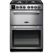 Rangemaster PROPL60DFFSS/C Professional Plus Stainless Steel with Chrome Trim Dual Fuel Cooker with Double Oven