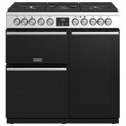Stoves Precision Deluxe S900DF Stainless Steel 90cm Dual Fuel Range Cooker