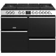 Stoves Precision Deluxe S1100DF GTG Stainless Steel 110cm Dual Fuel Range Cooker