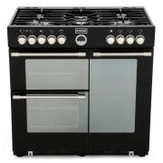 Stoves Sterling 900DFT Black 90cm Dual Fuel Range Cooker