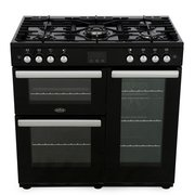 Belling Cookcentre 90G Black 90cm Gas Range Cooker