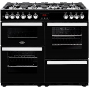 Belling Cookcentre 100DFT Black 100cm Dual Fuel Range Cooker