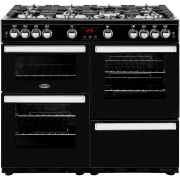 Belling Cookcentre 100G Black 100cm Gas Range Cooker