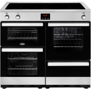buy belling cookcentre 100ei black 100cm electric induction rangebelling cookcentre 100ei stainless steel 100cm electric induction range cooker