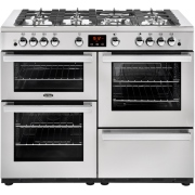 Belling Cookcentre 110G Professional Stainless Steel 110cm Gas Range Cooker