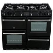 Belling Farmhouse 100G Black 100cm Gas Range Cooker