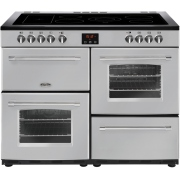 Belling Farmhouse 110E Silver 110cm Electric Ceramic Range Cooker