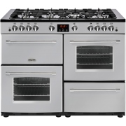 Belling Farmhouse 110G Silver 110cm Gas Range Cooker