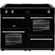 Belling Farmhouse 110Ei Black 110cm Electric Induction Range Cooker