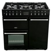 Belling Farmhouse DX 90DFT Black 90cm Dual Fuel Range Cooker