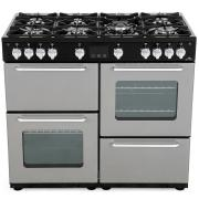 New World NW 100G Silver 100cm Gas Range Cooker