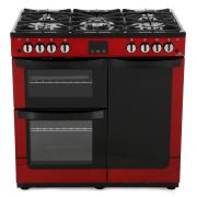 New World Vision 900G Red 90cm Gas Range Cooker