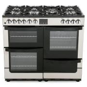 New World Vision 100DFT Stainless Steel 100cm Dual Fuel Range Cooker