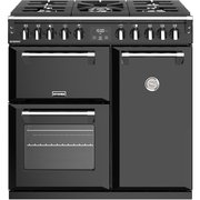 Stoves Richmond S900DF Black 90cm Dual Fuel Range Cooker