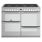 Stoves Sterling Deluxe S1100DF Stainless Steel 110cm Dual Fuel Range Cooker