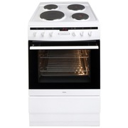 Amica 608EE2TAW Solid Plate Electric Cooker with Single Oven